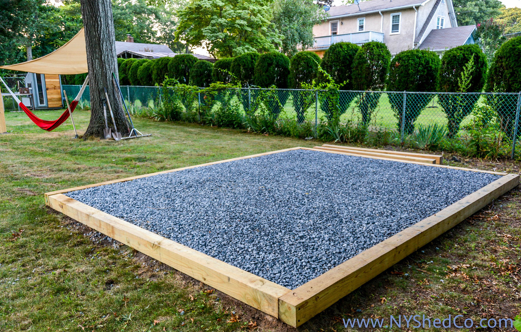 3 4 Quot Crushed Stone : Ny shed co sheds built on long island site requirement
